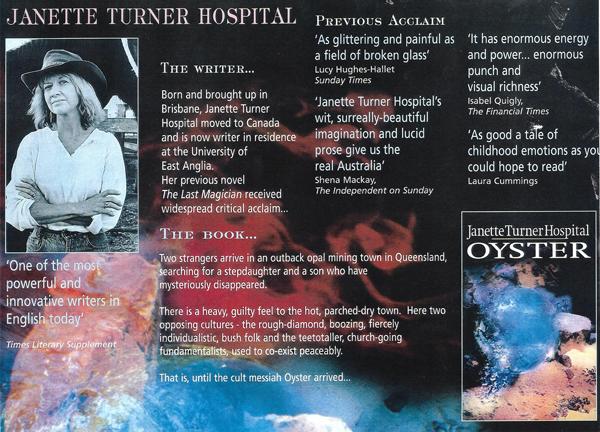 Janette Turner Hospital - News